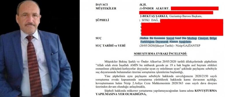 """19 Mayıs'ı kutlayanlara """"deyyus"""" diyen din adamına dava açıldı"""